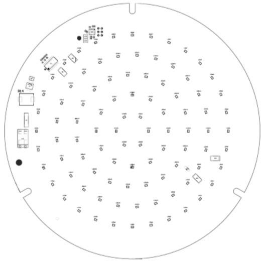 HOCHVOLT LED-Platine Rund 187 mm 17,5 W - Artikelnummer: 810316 Runde LED-Platine mit Aluminiumkern, für Netzspannung