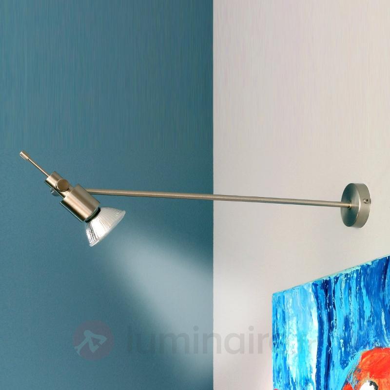 Applique discrète pour tableau DURO nickel satiné - Lampes pour écrans