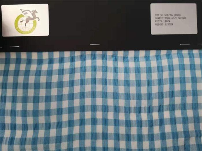 acetate blend nylon fabric - organza hand feeling with crepe design