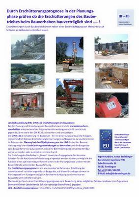 Prognosen von Erschütterungen im Bauwesen - Erschütterung durch Bauverfahren bauverträglich für Bestandsbebauung .....??
