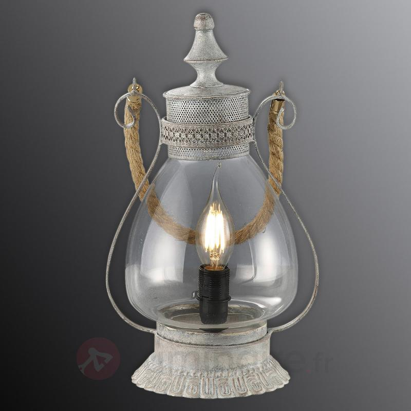 Lampe à poser nostalgique Linda - Lampes à poser rustiques