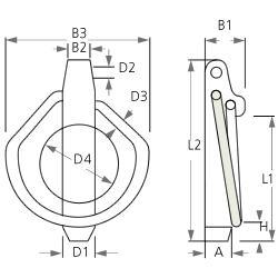 Goupilles - clips - Goupille Clip acier inox
