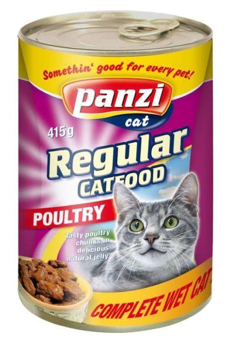 Консервы для кошек с мясом птицы, 415г (Panzi) - Жестяная банка