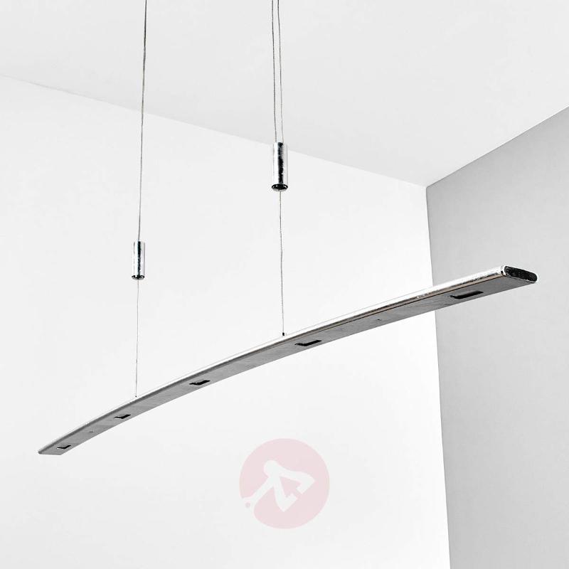 Elegant silver dimmable LED pendant light Gina - Pendant Lighting