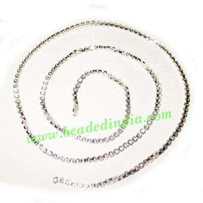 Silver Plated Metal Chain, size: 2mm, approx 51.5 meters in  - Silver Plated Metal Chain, size: 2mm, approx 51.5 meters in a Kg.