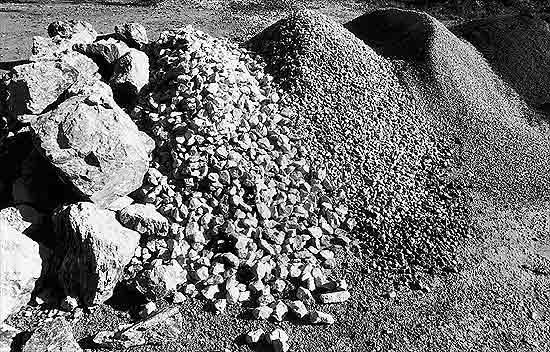 Kalkstein, Kies, Schotter - null