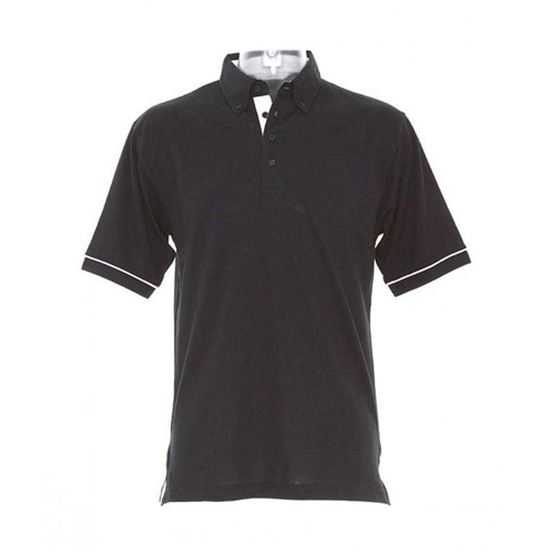 Contrast Button Down Collar Polo - Manches courtes