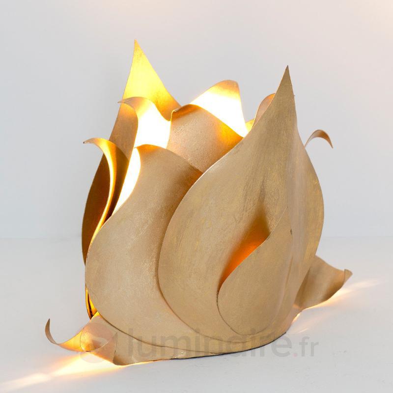Lampe à poser dorée Fleur de lotus - Lampes à poser designs