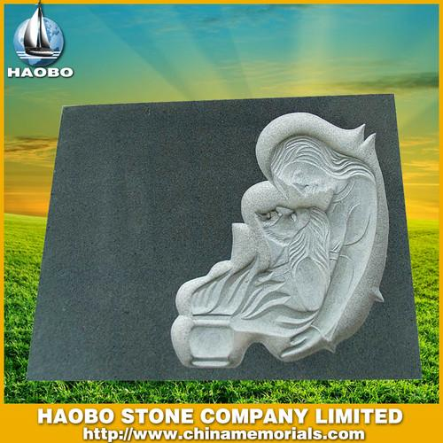 G654 Headstone Carving Headstone HBMES004 - Spanish Monument