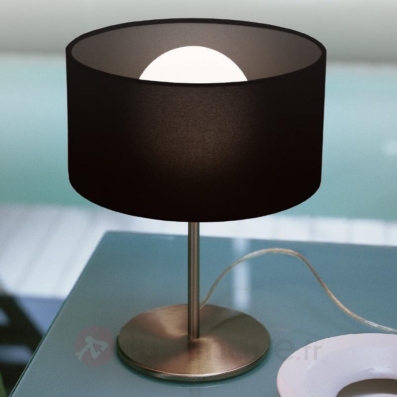 Lampe à poser élégante Fog avec abat-jour en pongé - Lampes de chevet
