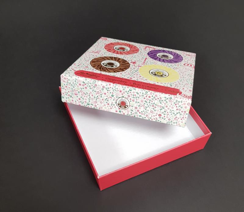 Coffret Cloche Carton - Impression quadri + pelliculage mat Type boite cosmétique