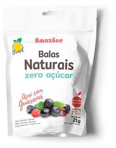 BALA NATURAL DE AÇAÍ COM GUARANÁ EM PÓ - Contém Ativos Funcionais Naturais Estimulantes e Antioxidantes