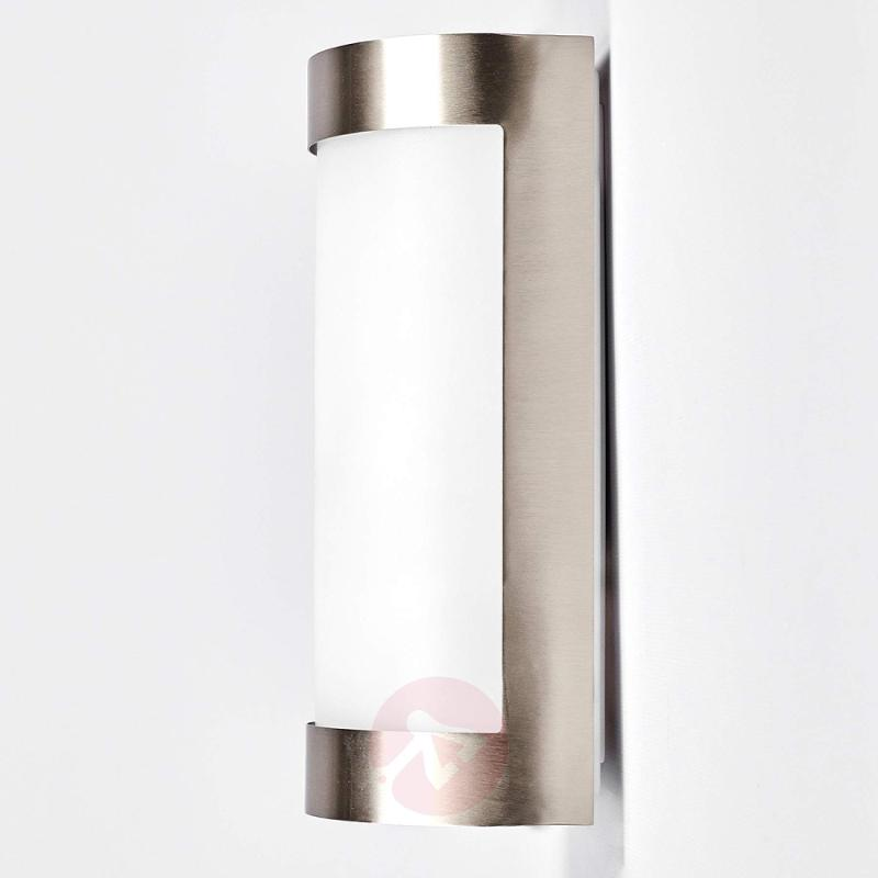 Beautiful stainless steel outdoor wall lamp Alvin - stainless-steel-outdoor-wall-lights
