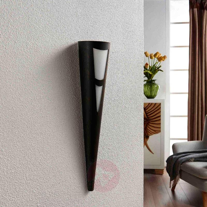 Germo LED wall torch in black - Wall Lights