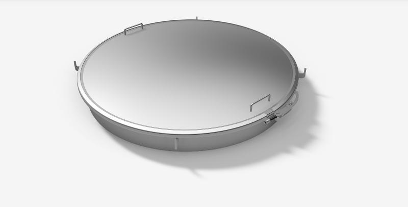 Trappe ronde à clamp - Trappe de dôme à clamp Grand modèle - H08-900-80 à H08-1000-80