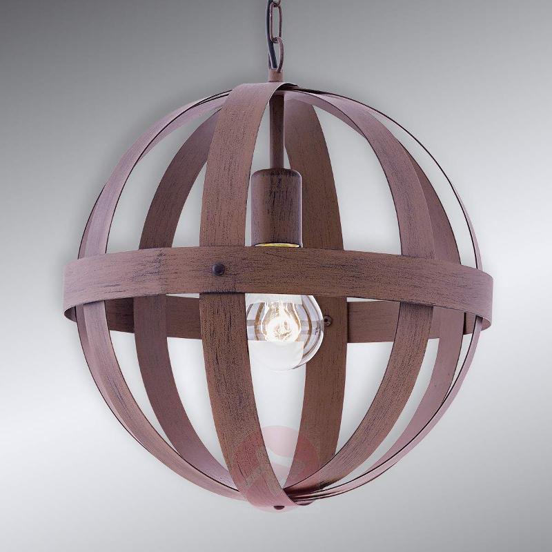 Metal Westburg pendant light with a rust look - Pendant Lighting