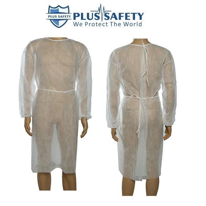 desechable vestido de visitante de aislamiento - Bata de proteção médica descartável  SS / SMS Bata de proteção