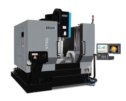 5-Axis-Machining-Center with trunnion table -VTX Ui WZW 96 - 5-axis trunnion table eases 5-sided machining.