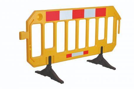 Barrière Mobile, Jaune - Barrières De Sécurité