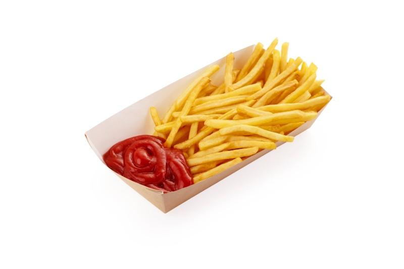 Packaging for burgers, fried potatoes and ciabattas - Kraft packaging for fast food