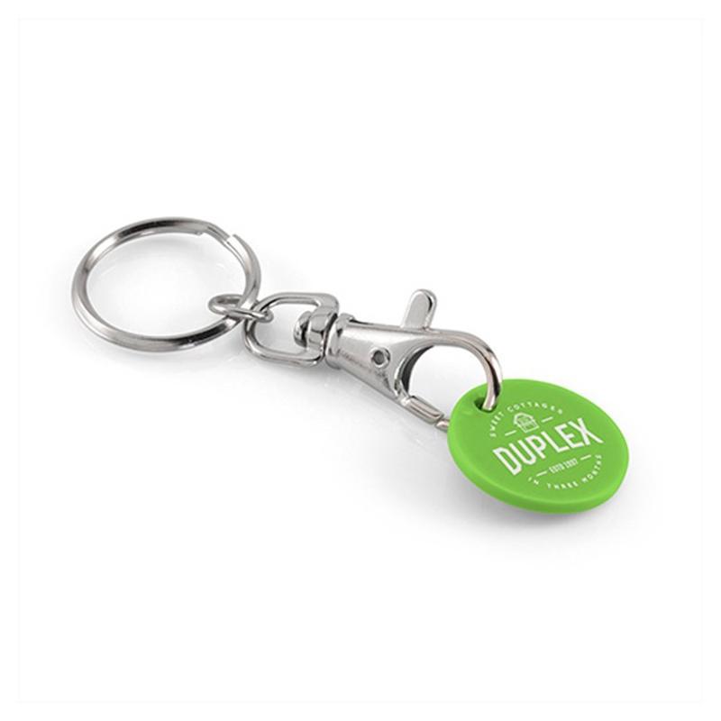 Porte-clés jeton classique + jeton plastique - Porte-clés métal