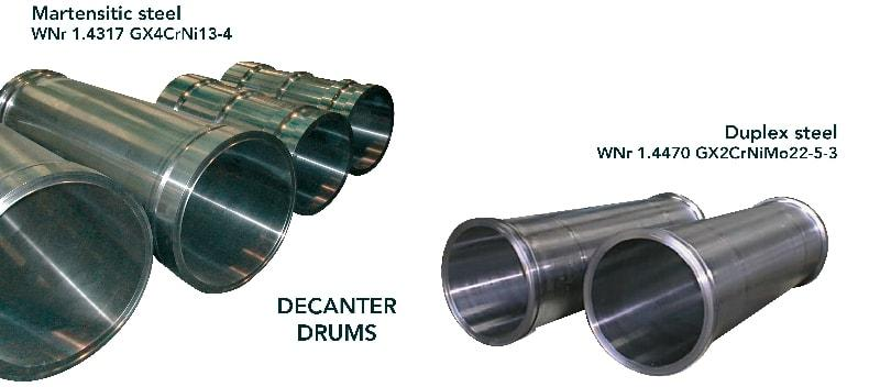 Decanter drum - Chemical industry