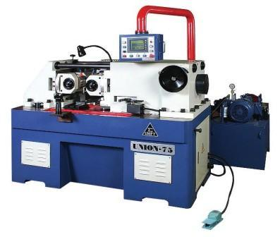Hydraulic thread rolling machine - UM-75 hydraulic thru feed type thread rolling machine