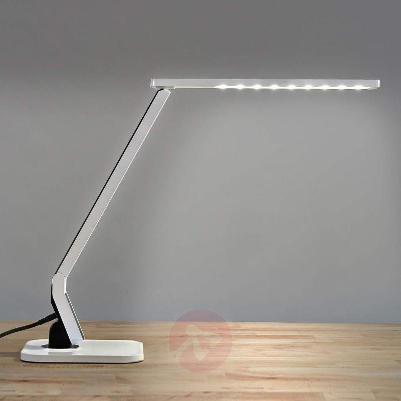 Top modern LED desk table lamp Eleni, white - Table Lamps