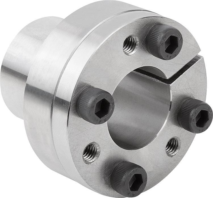 Keyless locking couplings Form A for thin walled hubs - Shaft-hub clamping sets