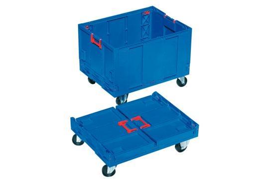 Cajas de plástico plegables - con fondo, 183L