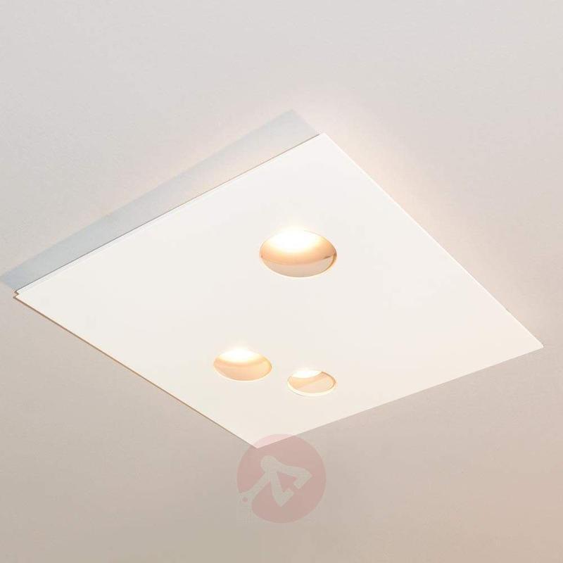 Designer LED ceiling light Des.agn, round holes - Ceiling Lights