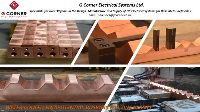 Water Cooled Equipotential Busbars for Zinc Plants -