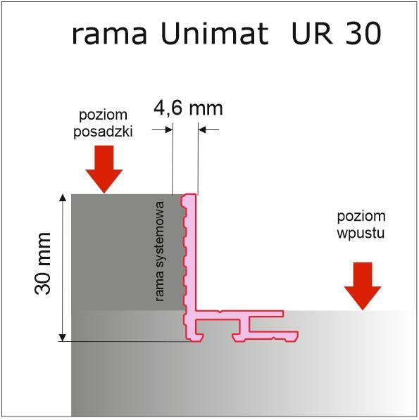 Rama systemowa aluminiowa Unimat UR 30 - Ramy systemowe do wycieraczek