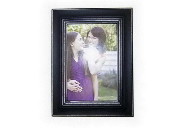 wood/MDF photo frame - wood/MDF photo frame with painting