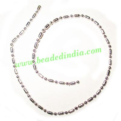 Silver Plated Metal Chain, size: 2mm, approx 26.1 meters in  - Silver Plated Metal Chain, size: 2mm, approx 26.1 meters in a Kg.
