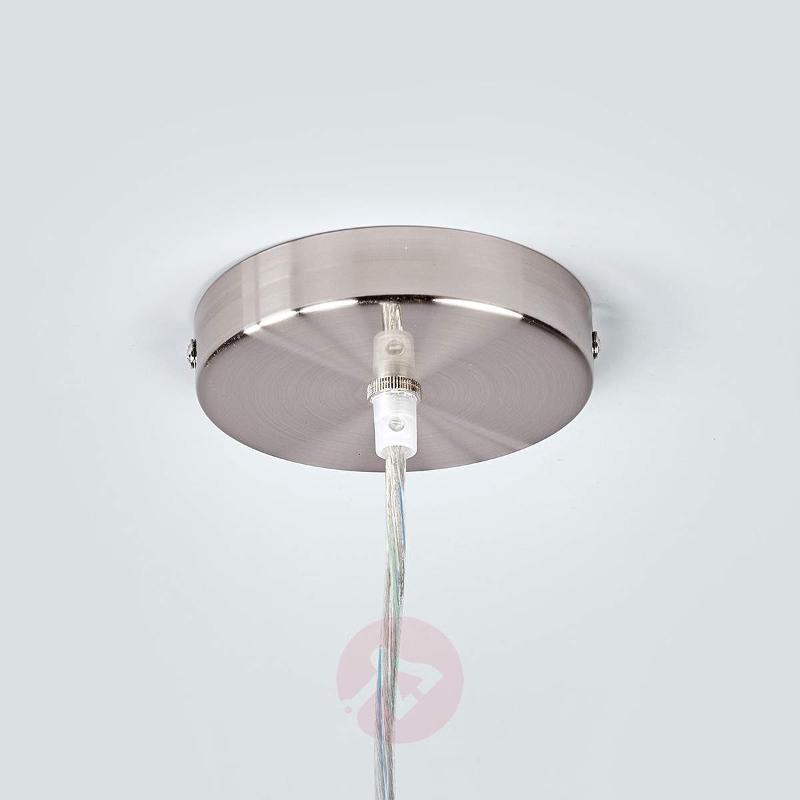 Cream-coloured Sebatin fabric LED pendant light - Pendant Lighting