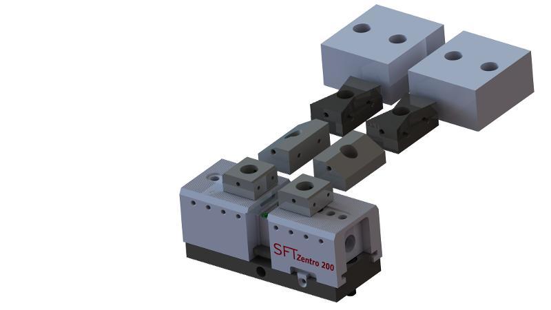 Zentro 200 mit Spannschiene 200 x 80 mm - null