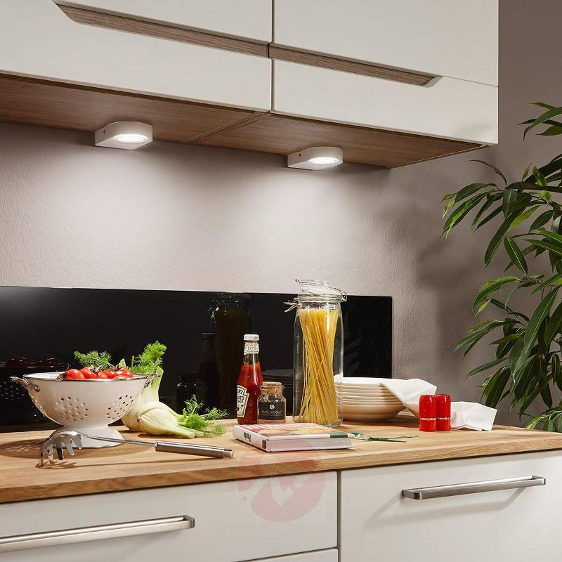 Set of 2 Lavaio LED underfit lights in white - Additional Furniture Lights
