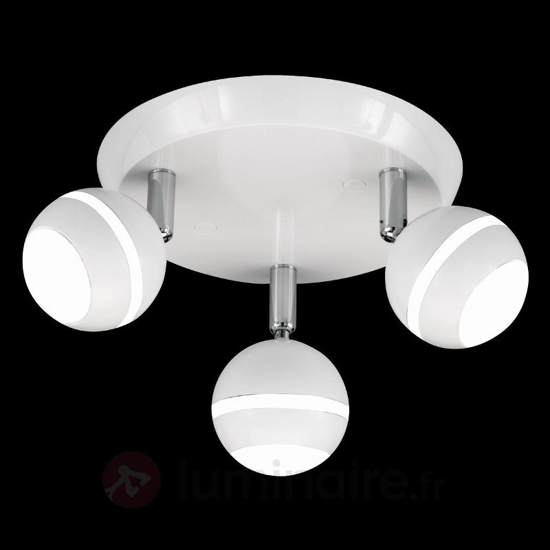 Plafonnier rond LED GROOVE blanc - Plafonniers LED