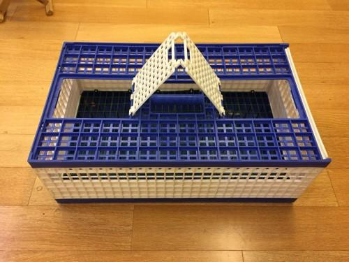 690×420×245mm chicken/duck/poutry transport cage - Poultry plastic chicken/duck/dove/pigeon transport cage /crate/case/box