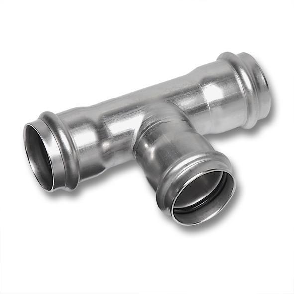 NiroSan® T-Stück, allseitig mit Pressanschluss - NiroSan® T-Stück, allseitig mit Pressanschluss, Edelstahlfittings