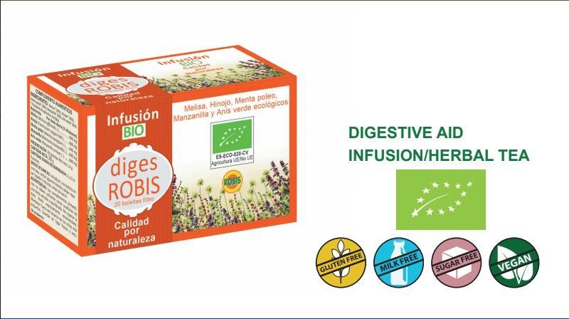 Diges Bio - Digestive aid, infusion/herbal tea.