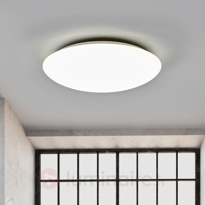 Plafonnier LED dimmable Teo clair, télécommande - Plafonniers LED