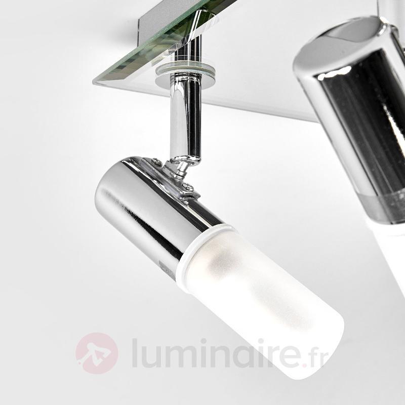 Plafonnier carré Jilian, à quatre lampes - Salle de bains
