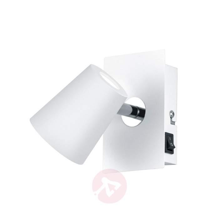 White LED wall spotlight Narcos w. pivotable head - Wall Lights