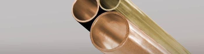 Copper-brass round tubes - A wide array of copper and brass alloys available, from 65/35 to 85/15