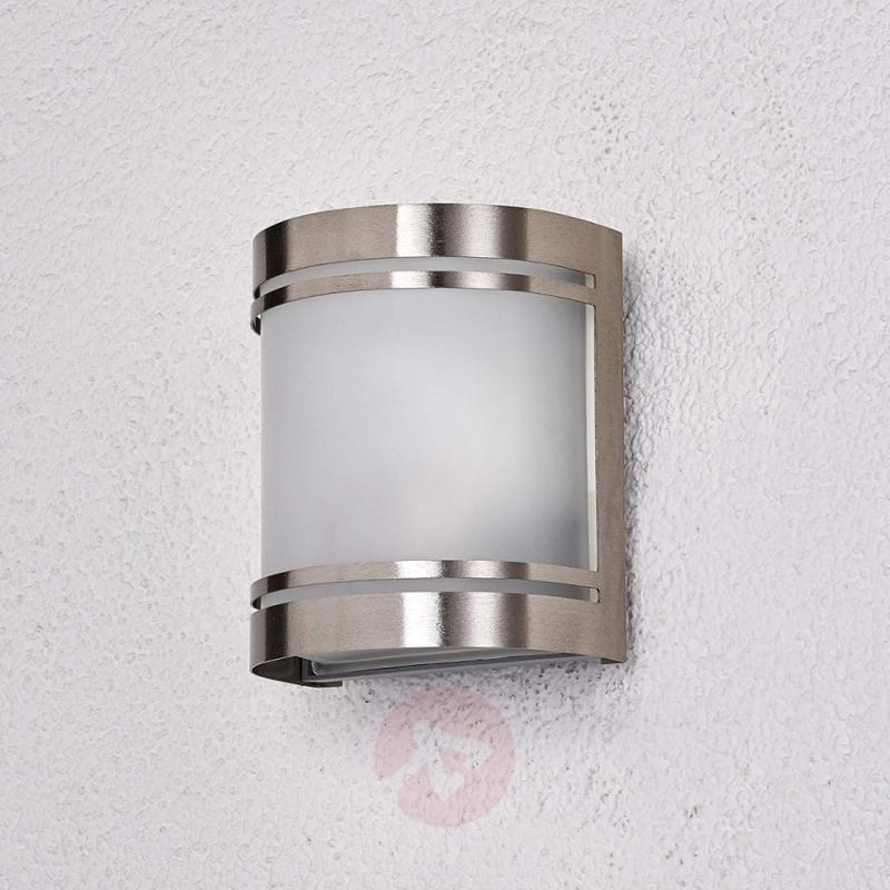 Stainless steel wall light Lenea - stainless-steel-outdoor-wall-lights