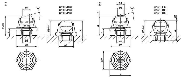Self-aligning Pads Swivel Angle 14° And 20° - Self-aligning pads