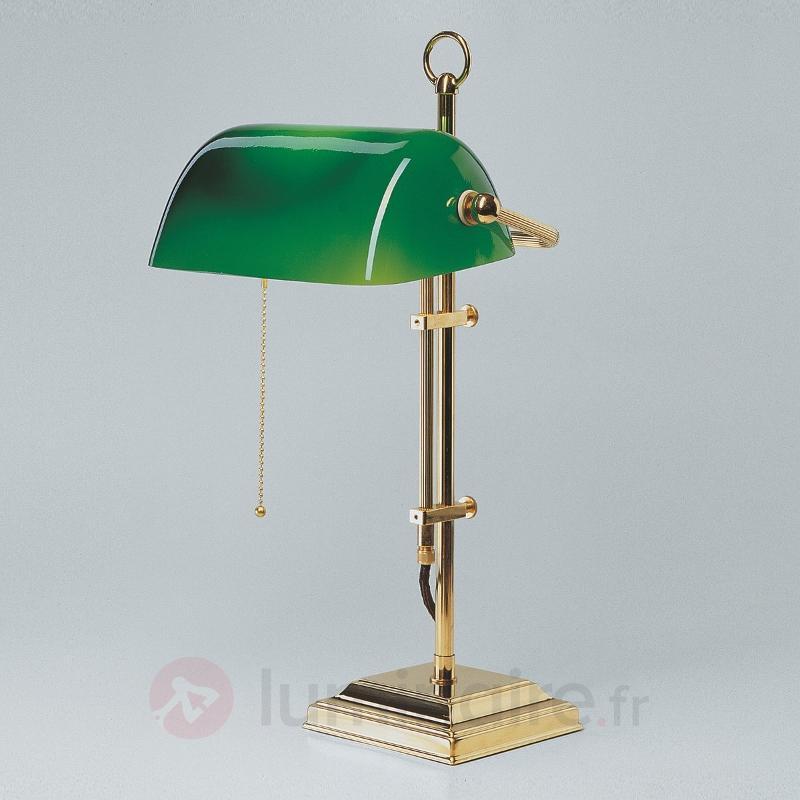 Lampe de banquier GITA en laiton poli - Lampes de bureau