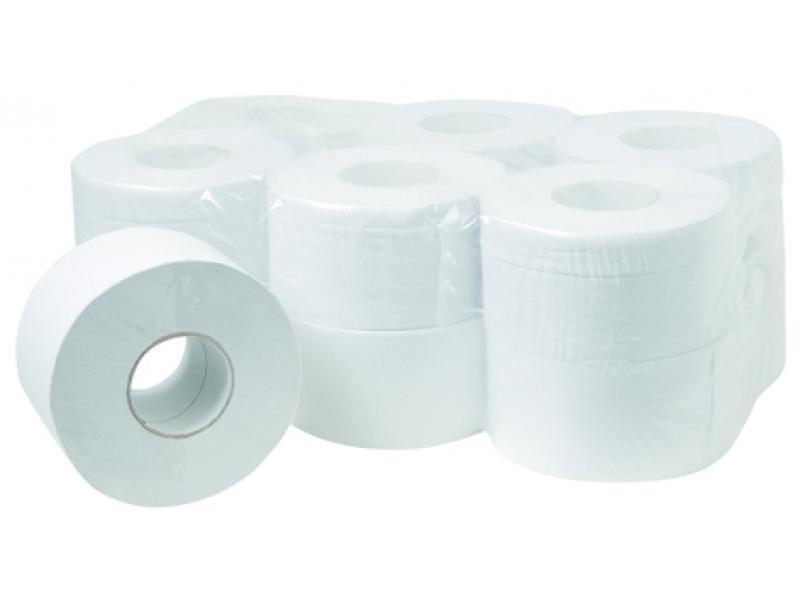 Papier hygiénique mini jumbo pure ouate Réf. : OAG2 - Essuyage